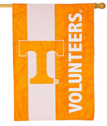 Tennessee Volunteers Embellished Applique House Flag