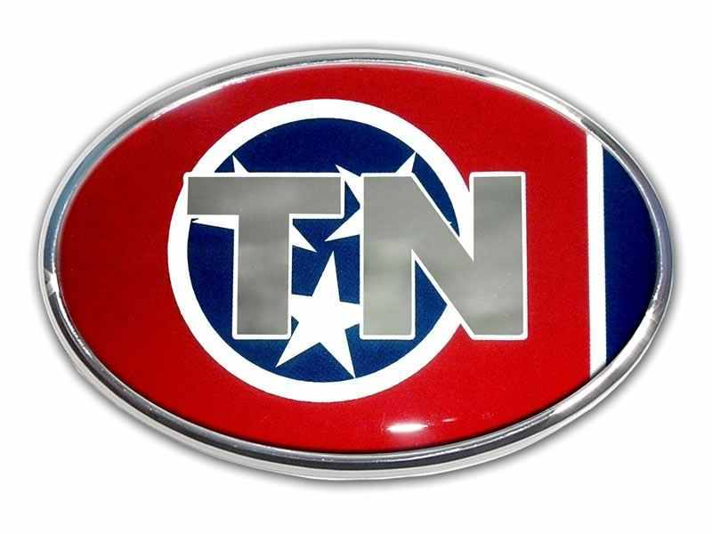 Tennessee Chrome and Color Oval Car Emblem