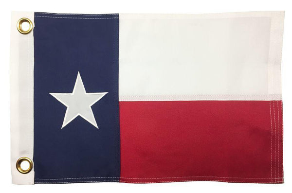 Texas 2-Ply Polyester 12x18 Boat Flag - Texas Flags - I AmEricas Flags