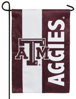 Texas A&M Aggies Embellished Applique Garden Flag