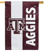 Texas A&M Aggies Embellished Applique House Flag