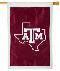 Texas A&M State Shape Applique House Flag - I AmEricas Flags