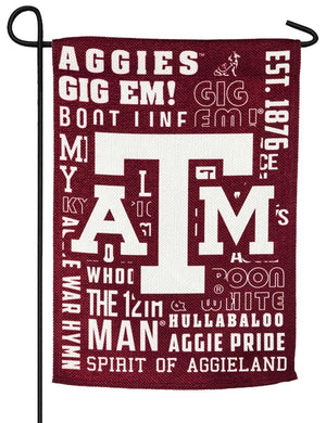 Texas Aggies 2 Sided Suede Reflections Garden Flag