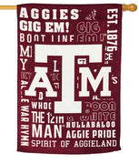 Texas Aggies 2 Sided Suede Reflections House Flag