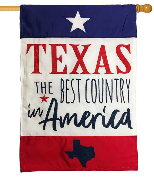 Texas Best Country Applique House Flag