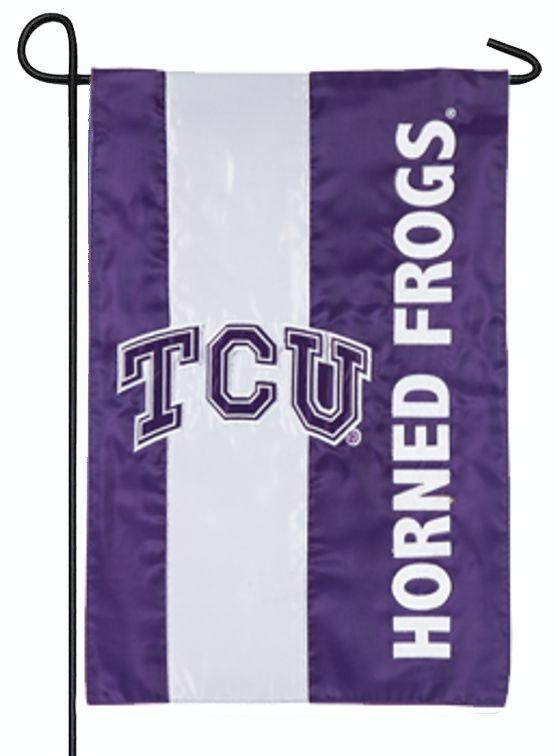 Texas Christian University Embellished Applique Garden Flag