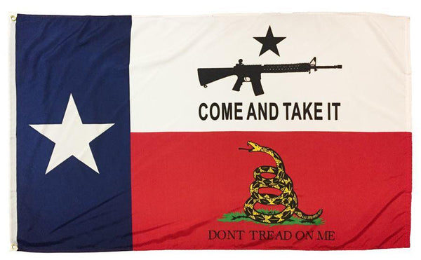 Texas Come and Take it Don't Tread on Me 3x5 Flag - Novelty Flags - I AmEricas Flags