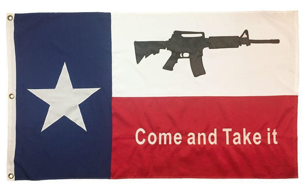 Texas Come and Take it M4 Rifle 3x5 2-Ply Polyester - Novelty Flags - I AmEricas Flags
