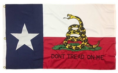 Texas Don't Tread On Me 3x5 Flag 2-Ply Polyester