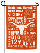 Texas Longhorn 2 Sided Suede Reflections Garden Flag