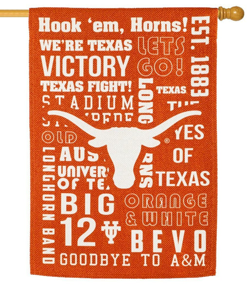 Texas Longhorn 2 Sided Suede Reflections House Flag