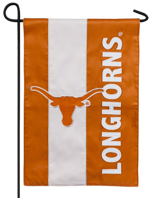 Texas Longhorns Embellished Applique Garden Flag