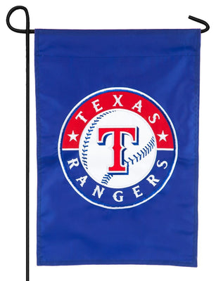 Texas Rangers Applique Garden Flag