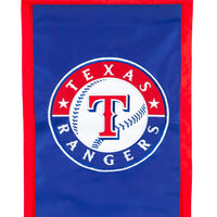 Texas Rangers Applique House Flag