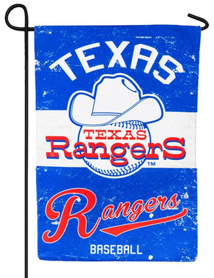 Texas Rangers Vintage Linen Decorative Garden Flag
