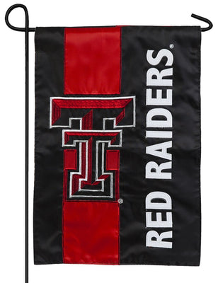 Texas Tech Red Raiders Embellished Applique Garden Flag
