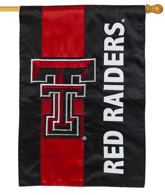 Texas Tech Red Raiders Embellished Applique House Flag