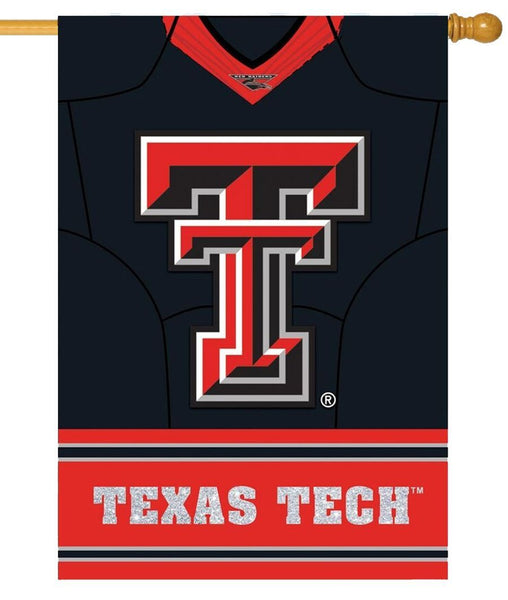 Texas Tech Red Raiders Jersey 2-Sided Embellished House Flag Side 1