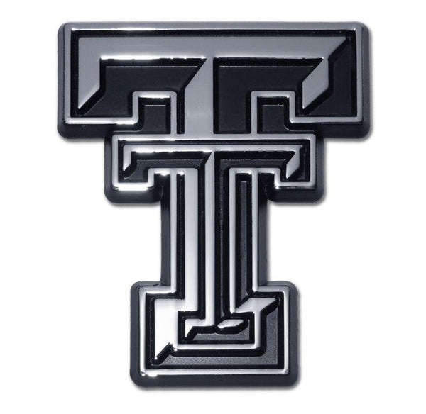 Texas Tech University Double T Chrome Car Emblem