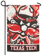 Texas Tech Whimsical Mascot Suede Reflections Garden Flag