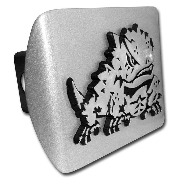 Texas Christian University Horned Frog Brushed Chrome Hitch Cover