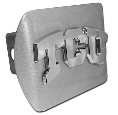 Texas Christian University TCU Brushed Chrome Hitch Cover