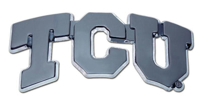 Texas Christian University TCU Chrome Car Emblem