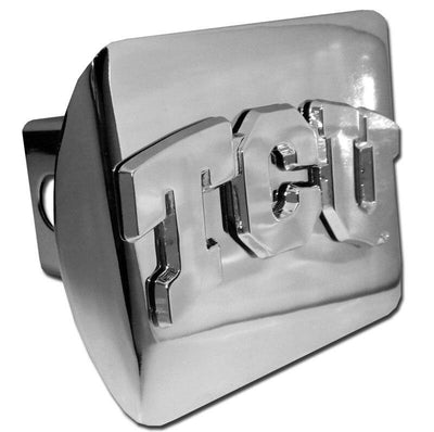 Texas Christian University TCU Shiny Chrome Hitch Cover