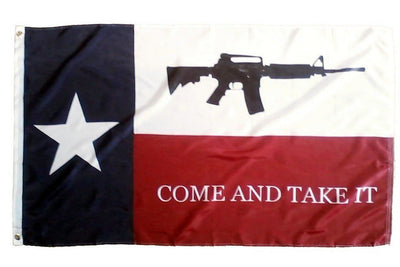 Texas Come and Take it M4 Rifle 3x5 Flag