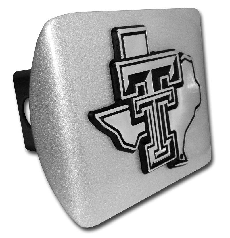 Texas Tech University Chrome State Shaped Brushed Chrome Hitch Cover