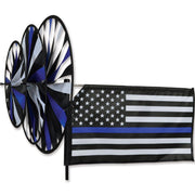 Thin Blue Line Triple Wind Spinner