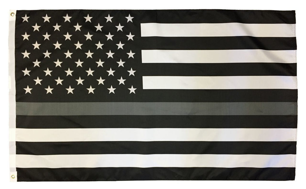 Corrections Officer Thin Gray Line Subdued American Flag Design Garden Flag