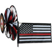Thin Red Line Flag Triple Wind Spinner