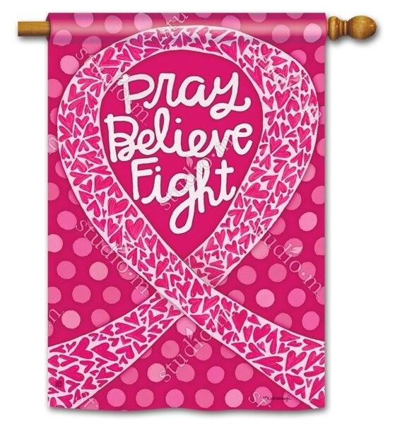 Think Pink House Flag - All Decorative Flags/Themes/Breast Cancer Awareness - I AmEricas Flags