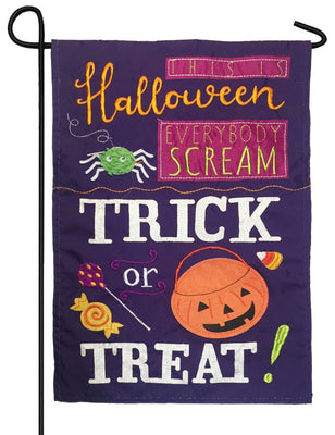 This is Halloween Applique Garden Flag