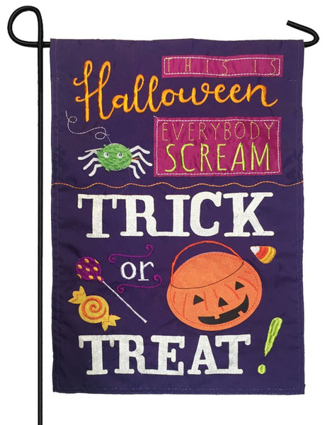 This is Halloween Applique Garden Flag - All Decorative Flags/Holidays/Halloween Flags - I AmEricas Flags