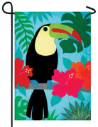 Toucan Double Applique Garden Flag