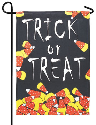 Trick or Treat Candy Corn Garden Flag