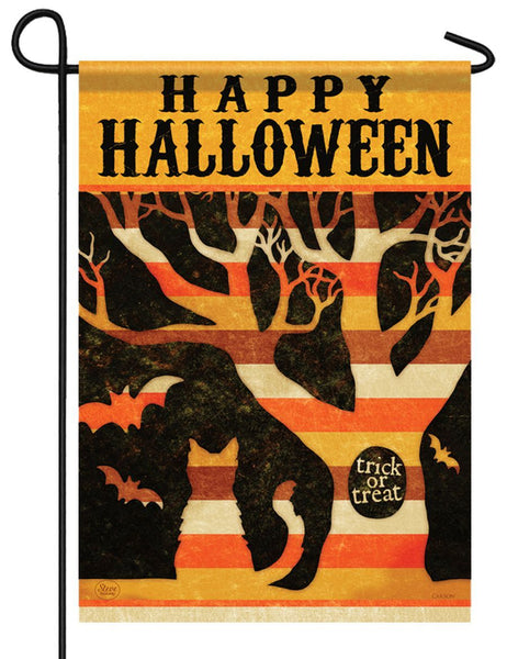 Trick or Treat Tree Halloween Garden Flag - I AmEricas Flags