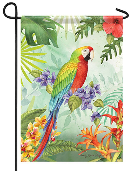 Tropical Macaw Garden Flag - I AmEricas Flags