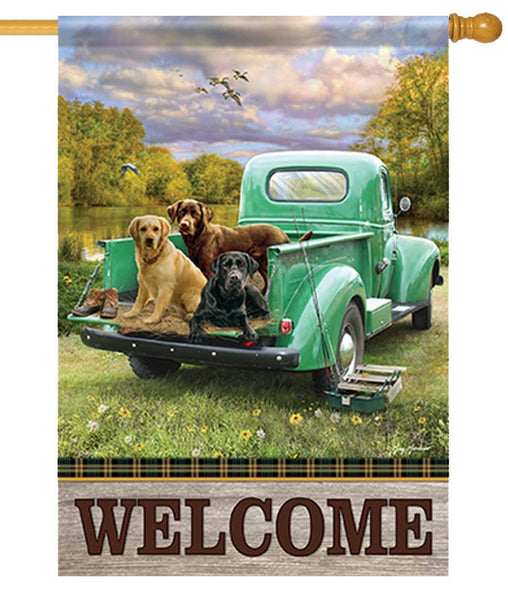 Truck Bed Pups House Flag