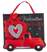 Truckload of Hearts Decorative Door Hanger