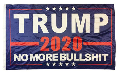 Trump 2020 No More BS Blue 4x6 Nylon Flag