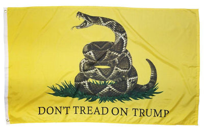 Trump Don't Tread Rattlesnake 3x5 Flag