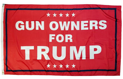 Trump Gun Owners 3x5 Flag Double Sided