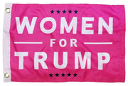 Trump Women For Pink Double Sided Boat Flag