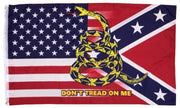 USA Rebel Don't Tread On Me 3x5 Flag