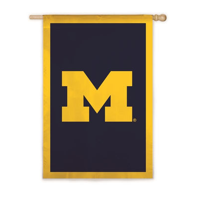 Univeresity of Michigan M Applique House Flag