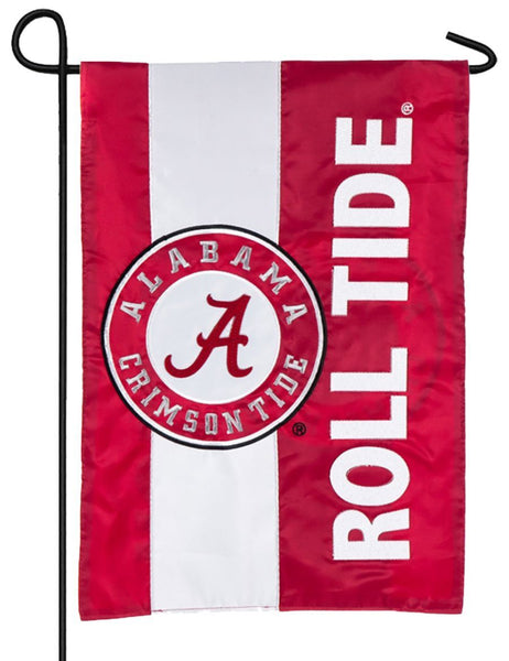 University of Alabama Embellished Applique Garden Flag
