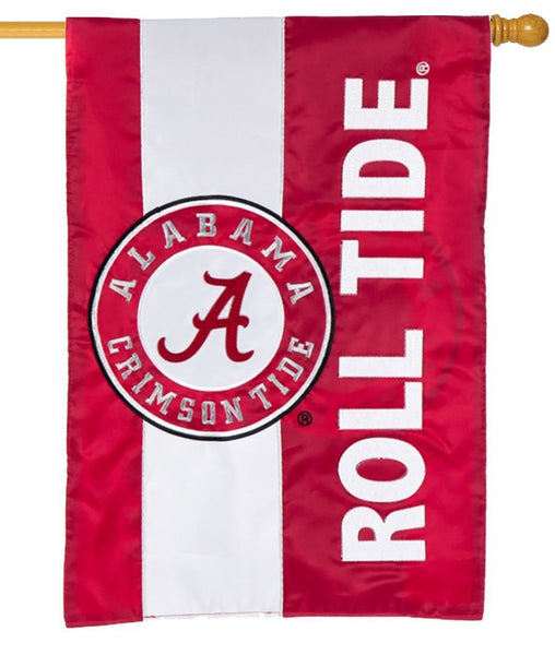 University of Alabama Embellished Applique House Flag